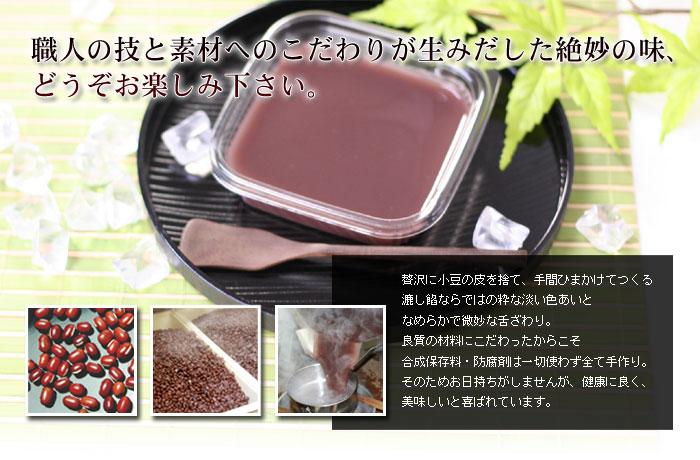 京都西山水羊羹の材料写真