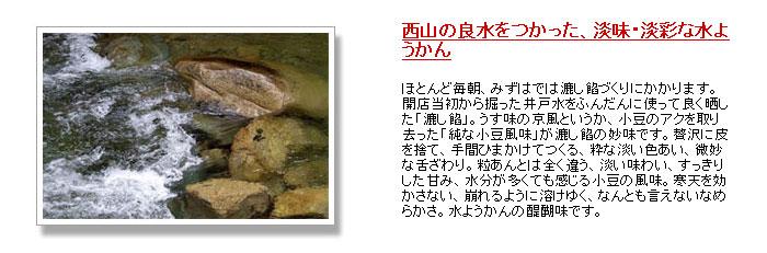 京都西山水羊羹の説明