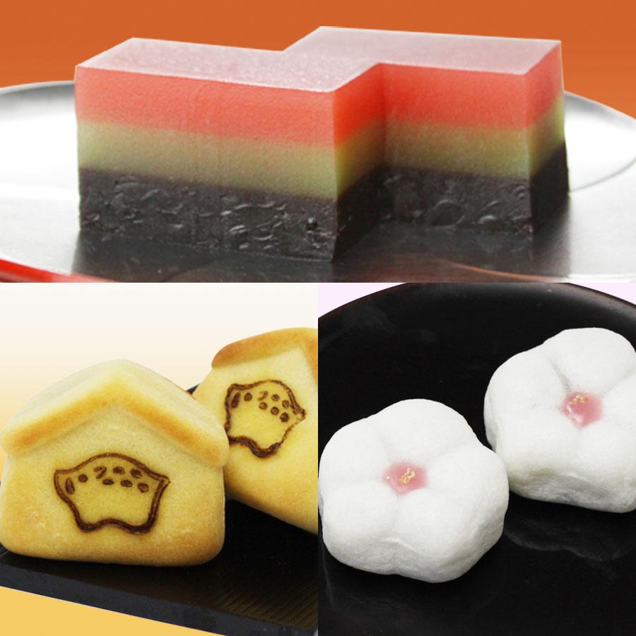 初陽・干支菓子2個・匂い梅2個セット