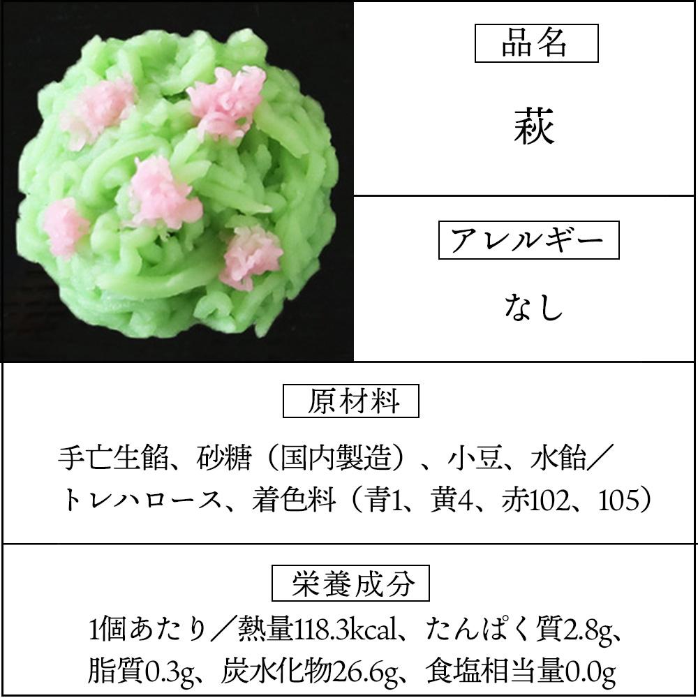 上生菓子萩